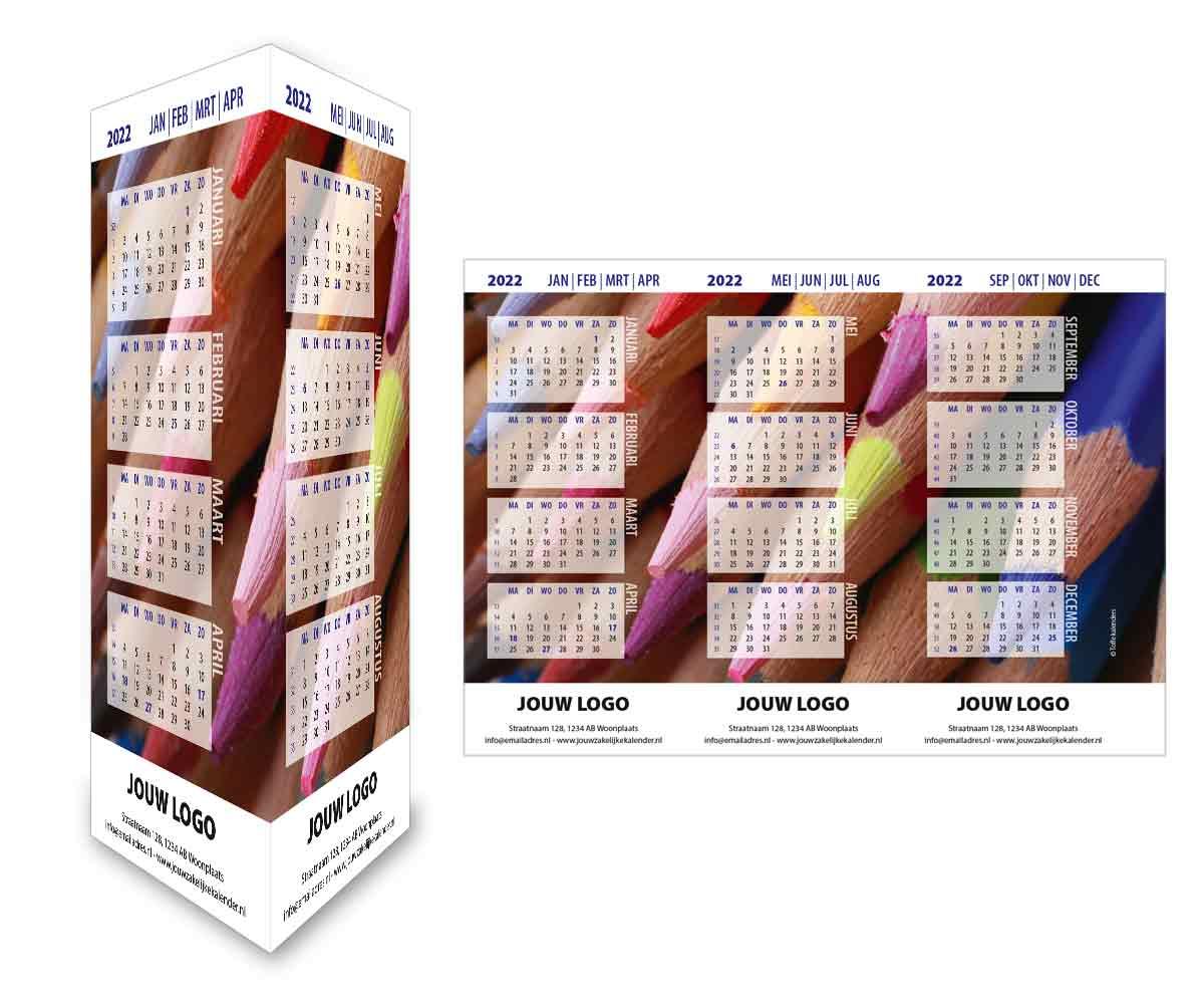 Bureaukalender driehoekskalender staand 2022